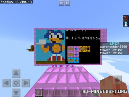 Скачать Sonic the Hedgehog 2: Sonic's Time Adventure для Minecraft PE