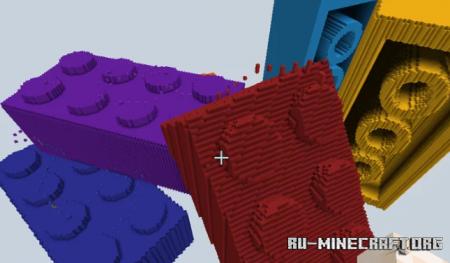 Скачать Giant Lego Brick Parkour для Minecraft