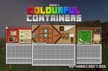 Скачать Colourful Containers GUI для Minecraft 1.16
