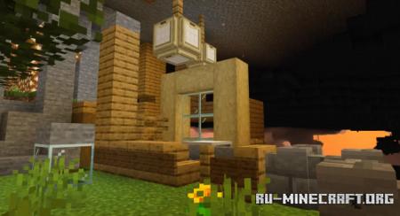 Скачать Cave Town (Modern Cliffside Village) для Minecraft