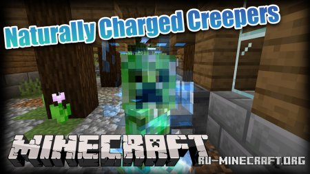 Скачать Naturally Charged Creepers для Minecraft 1.15.2