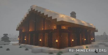 Скачать Snowy Chalet для Minecraft