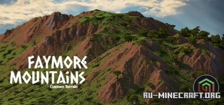 Скачать Faymore Mountains (Custom Terrain) для Minecraft PE