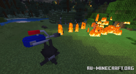 Скачать Flamethrower для Minecraft PE 1.15