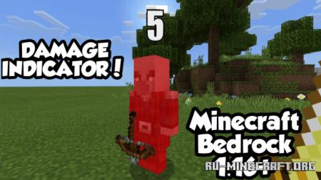 Скачать Damage Indicator для Minecraft PE 1.16