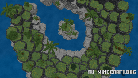 Скачать Tropical Cove (Custom Terrain) для Minecraft PE