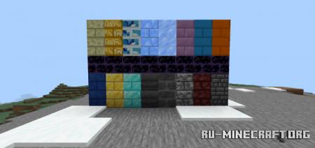 Скачать More Bricks v2 для Minecraft PE 1.14