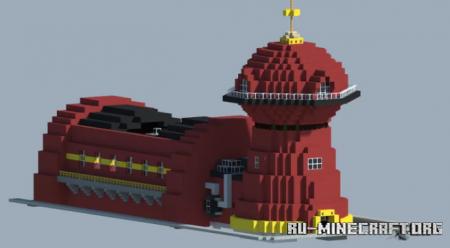 Скачать Futurama Planet Express Building для Minecraft