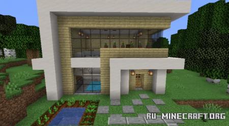 Скачать Linda Casa Branca - Beautiful White House для Minecraft