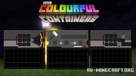Скачать Black Colourful Containers для Minecraft 1.15