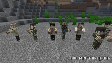 Скачать Tissou's Zombie для Minecraft 1.15