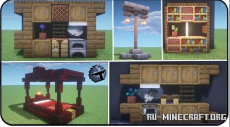 Скачать 50 Interior Designs для Minecraft