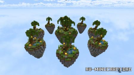 Скачать Lucky Islands (Map/Minigame/PvP) для Minecraft PE