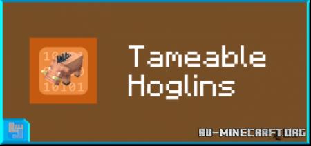 Скачать Tameable Hoglins для Minecraft PE 1.16