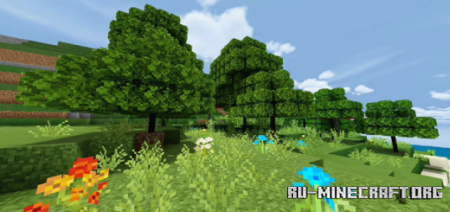 Скачать Better Foliage and Realistic Environment для Minecraft PE 1.16