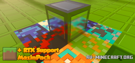 Скачать MazinPack RTX [8x8] для Minecraft PE 1.15