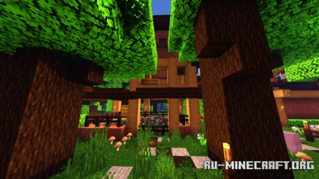 Скачать Survival House Dark Oak Forest для Minecraft PE