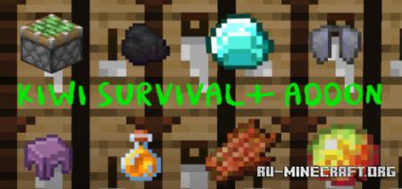 Скачать Kiwi Survival Plus для Minecraft PE 1.16