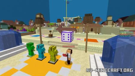Скачать Super Voxel Party! (4-player Mario Party) для Minecraft