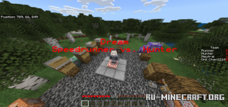 Скачать Minecraft Man Hunt (Based Off Dream) для Minecraft PE