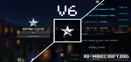 Скачать Astral Client V6 для Minecraft PE 1.16