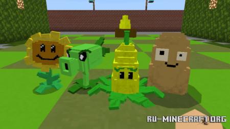 Скачать Plants vs Zombies Map V.5 для Minecraft PE