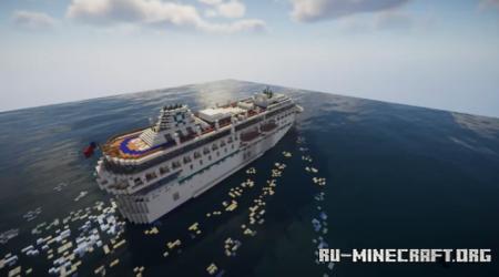 Скачать OACL SHINE - Custom Cruise Ship для Minecraft