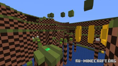 Скачать Sonic Parkour (Competition Map) для Minecraft PE