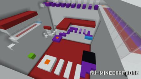 Скачать White Parkour Rooms для Minecraft PE