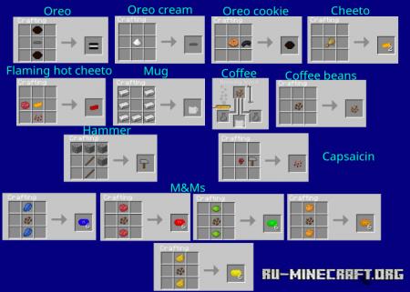 Скачать Random Food для Minecraft PE 1.16