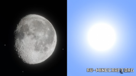 Скачать Hyper Realistic Sun and Moon для Minecraft 1.16