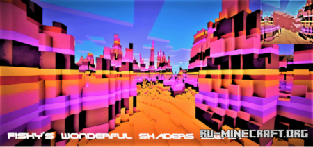 Скачать Fishy's Wonderful Shader для Minecraft PE 1.16