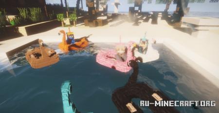 Скачать Flamingo Boats для Minecraft 1.16