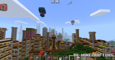 Скачать Xiconglin City (West Jungle City) для Minecraft PE