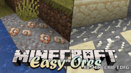 Скачать Easy Ores для Minecraft 1.14.4