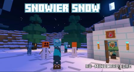 Скачать Dettomod 1.0: Snowier Snow для Minecraft PE 1.16