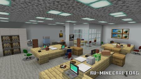 Скачать The Office Roleplay Map для Minecraft PE