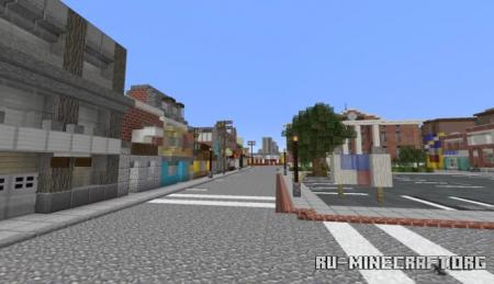 Скачать Back to the Future - Hill Valley 1985 для Minecraft