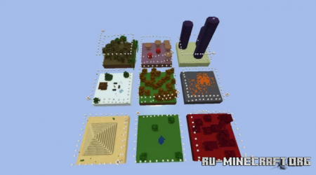 Скачать Sky Parkour Biomes by yusifvatan для Minecraft