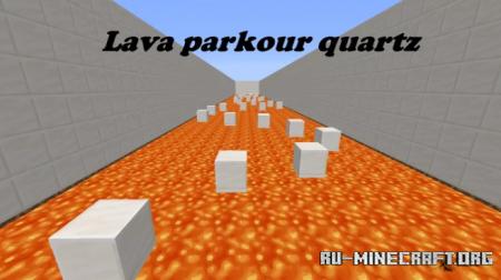 Скачать Lava Parkour Quartz by yusifvatan для Minecraft