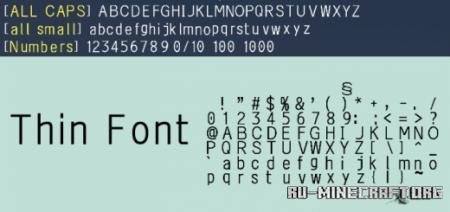 Скачать Thin Font для Minecraft PE 1.16