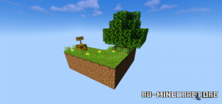 Скачать Skyblock with Structures by SrCamerot для Minecraft PE