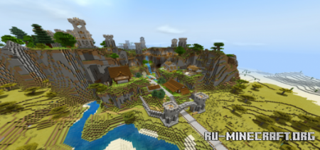 Скачать Medieval Highlands – Atlantis для Minecraft PE