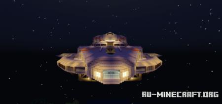 "Скачать The Skeld Space Ship From the Game ""Among Us"" для Minecraft PE"