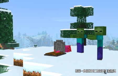Скачать Player Graves для Minecraft PE 1.16