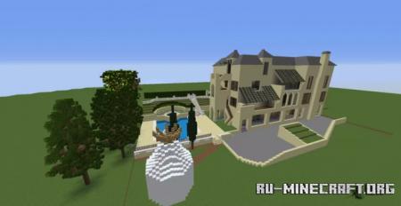 Скачать Katy Perry's Hollywood Hills House для Minecraft