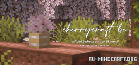 Скачать Cherrycraft BE – Official Port для Minecraft PE 1.16