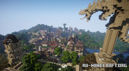 Скачать The Dragons City для Minecraft