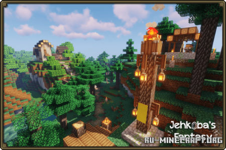 Скачать Jehkoba's Fantasy [16x16] для Minecraft PE 1.16