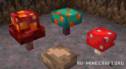 Скачать Three Dimensional Mushrooms для Minecraft 1.16